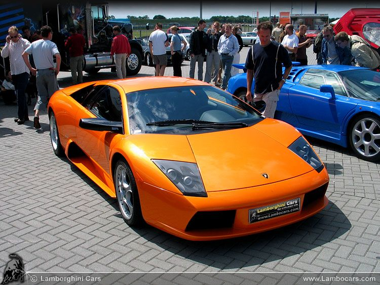 A Magnificent Pearl Orange Metallic Lamborghini Murcielago During