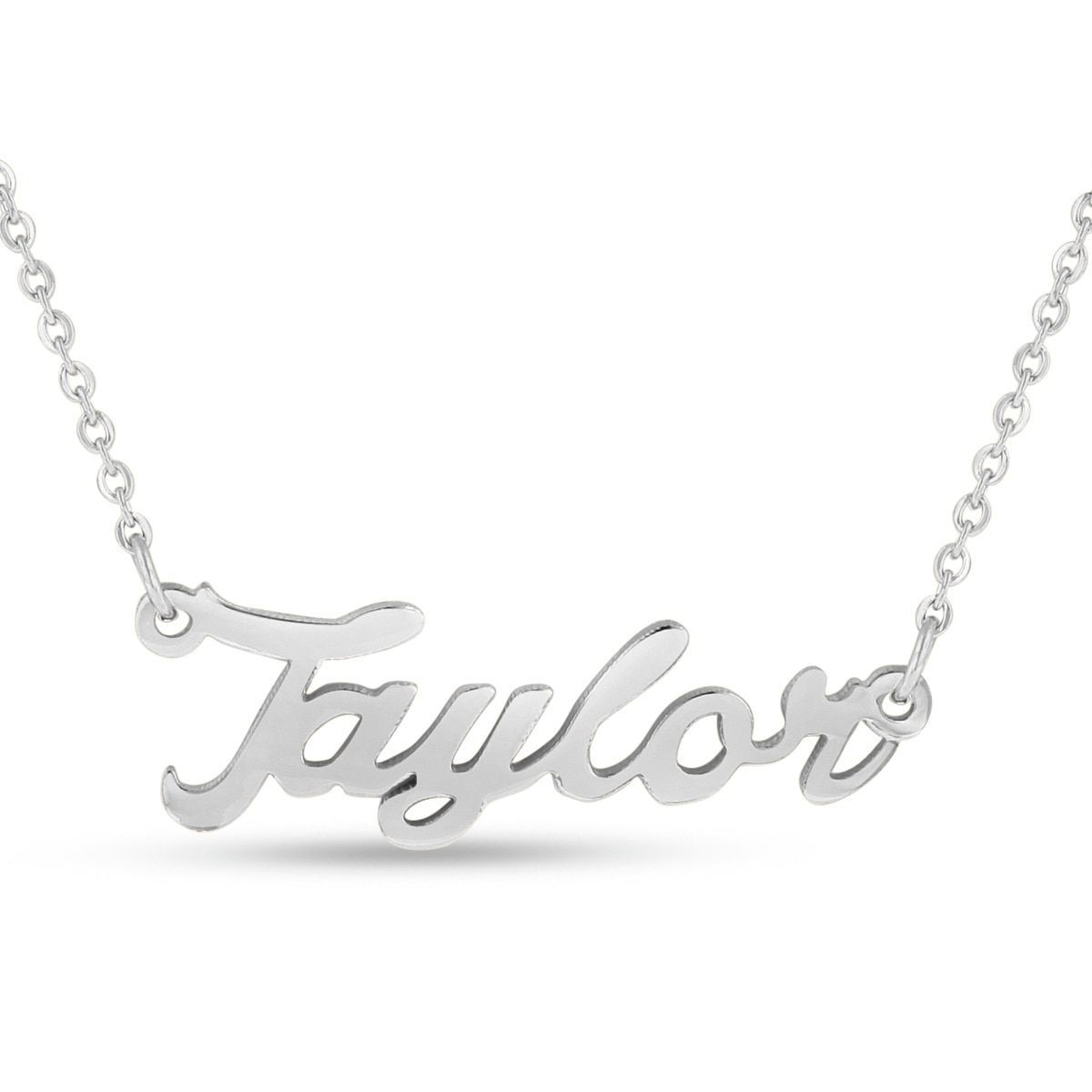 52d01b11a66eb Overlay 'Taylor' Nameplate Necklace | Products | Nameplate necklace ...
