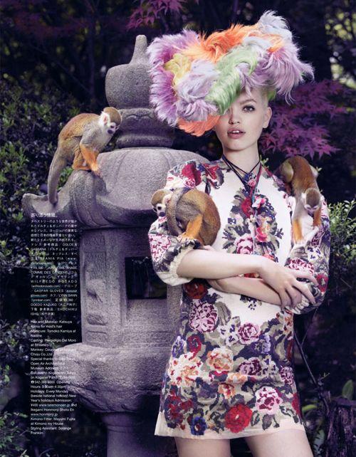 The Secret Chatter of Golden Monkeys   Vogue japan
