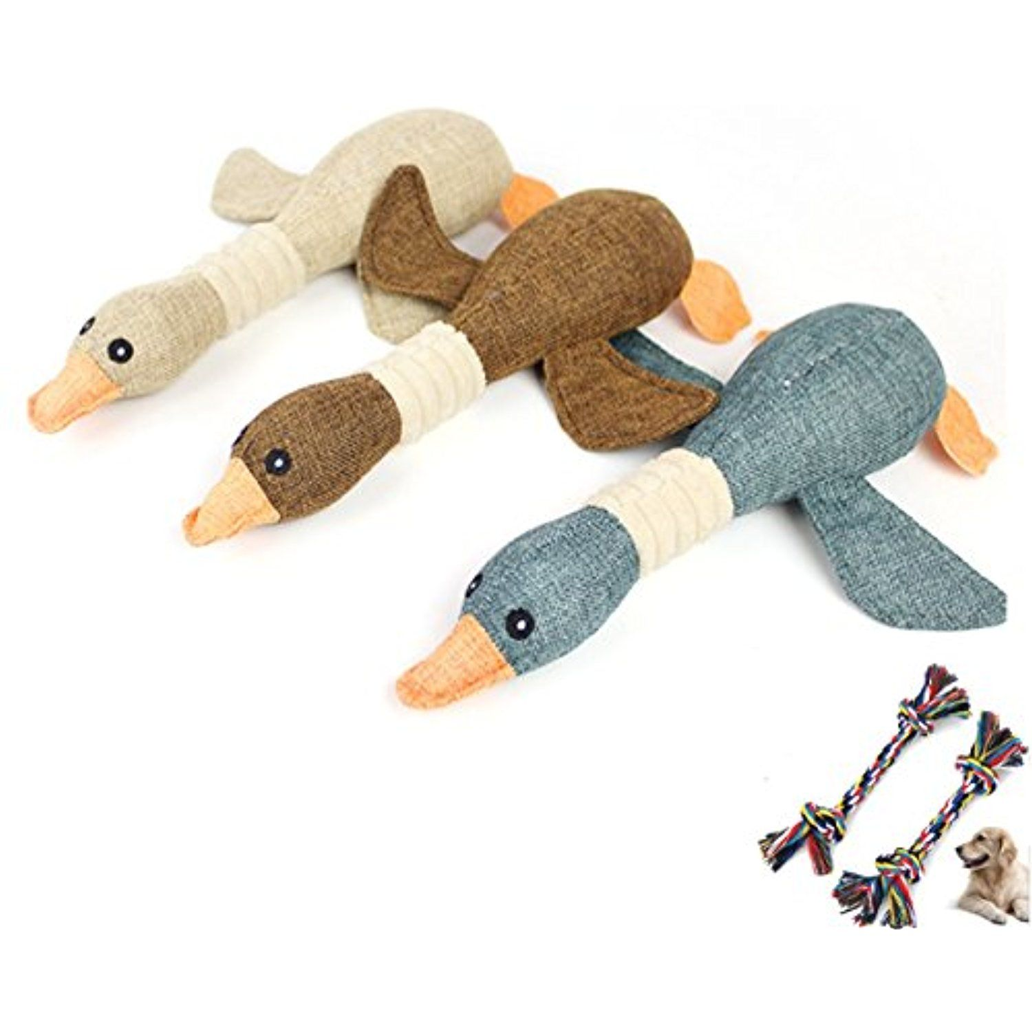 Dog Chew Toys Pet Mallard Duck Dog Toy Durable Squeaky Dog Toy for