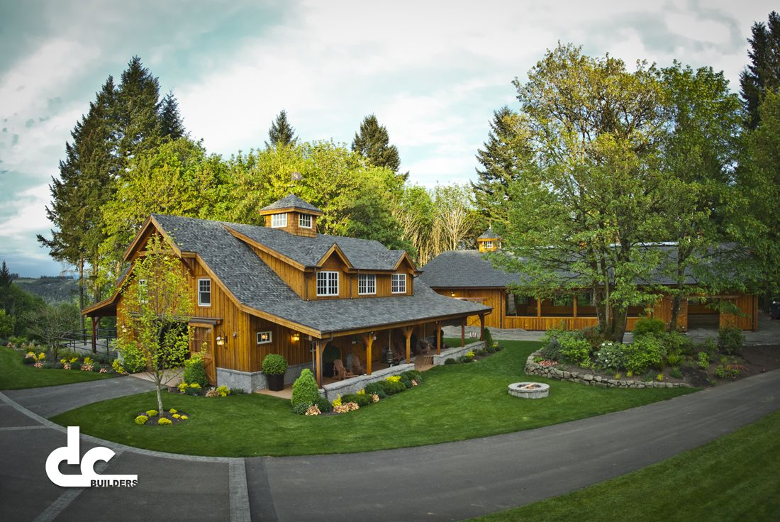 Check Out This Custom Horse Barn With Living Quarters At The Last Chance  Ranch In West