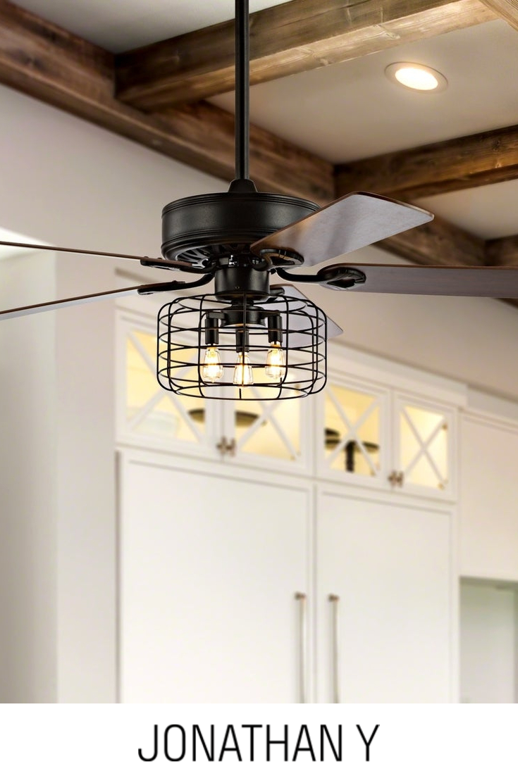 Asher 52 3 Light Led Ceiling Fan With