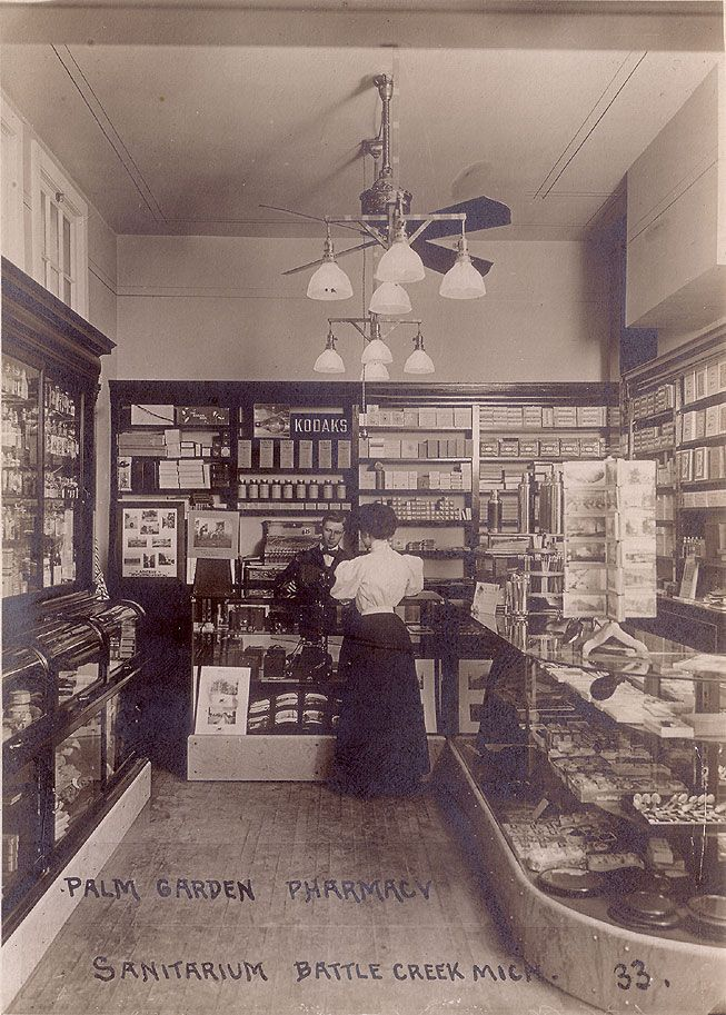 Ever wondered what camera shops looked like a century ago? --- Kodak Store Interior, Real Photo Postcard RPPC, 1910