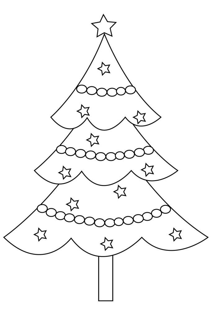 Printable Christmas Tree Coloring Pages Christmas Tree Coloring Page Tree Coloring Page Christmas Templates Free