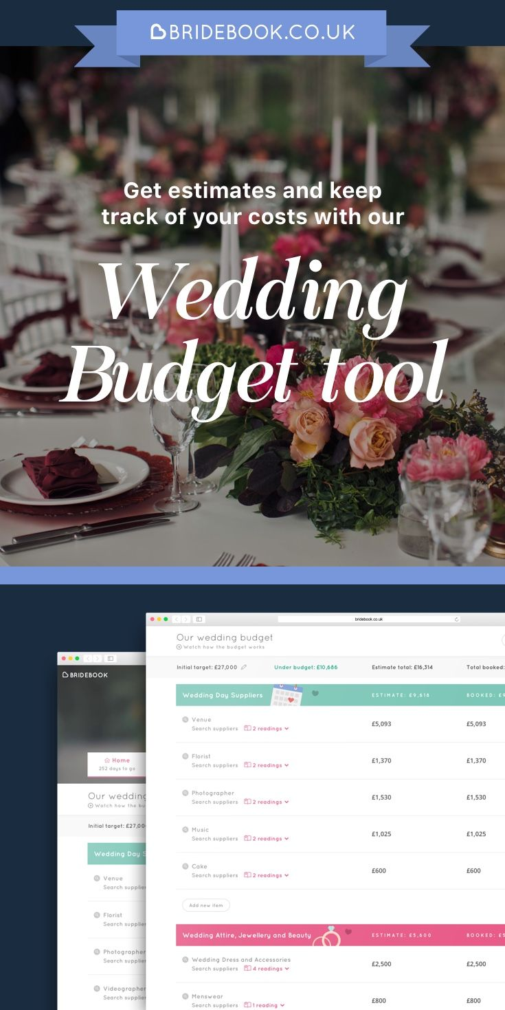 Sign up to our free virtual wedding planner and start managing your