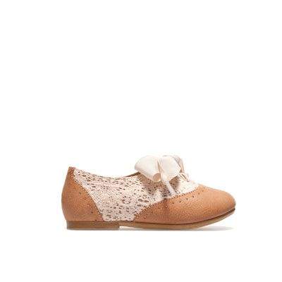 Blucher with crochet detail - Shoes - Baby girl - Kids - ZARA United Kingdom  Omg my little princess is gonna need these ..too cute!