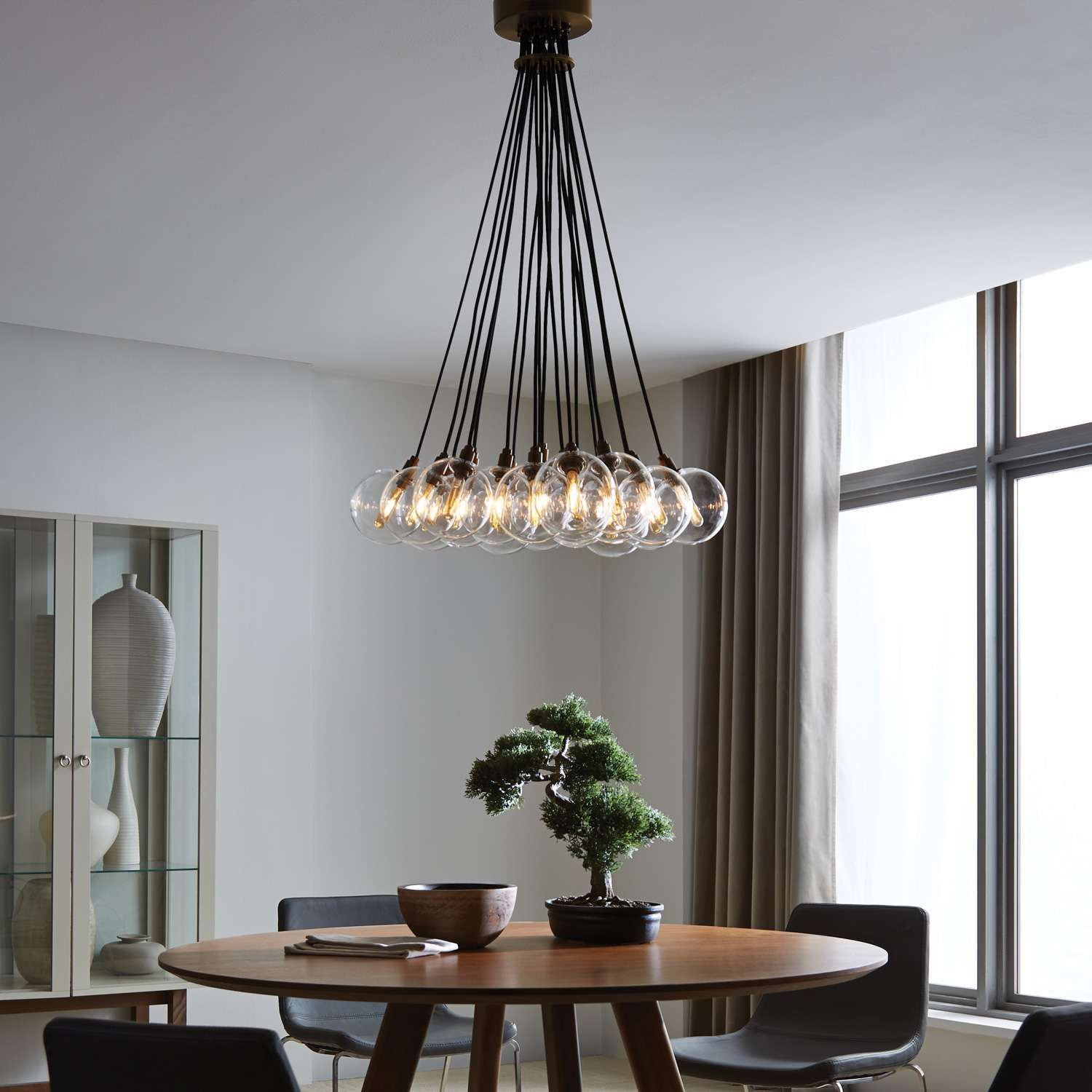 The Gambit 19 Lite Led Multiport Chandelier Family Exudes Undeniable Beauty And Warm Contemporary St Contemporary Light Fixtures Led Chandelier Dining Lighting