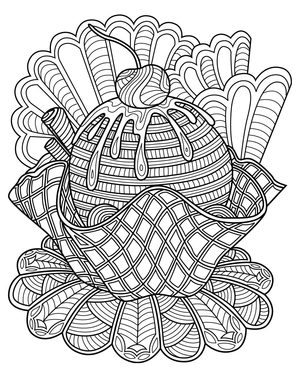 Sweets Coloring Page Colorish Free Coloring App For Adults By Goodsofttech Coloring Pages Food Coloring Pages Animal Coloring Pages