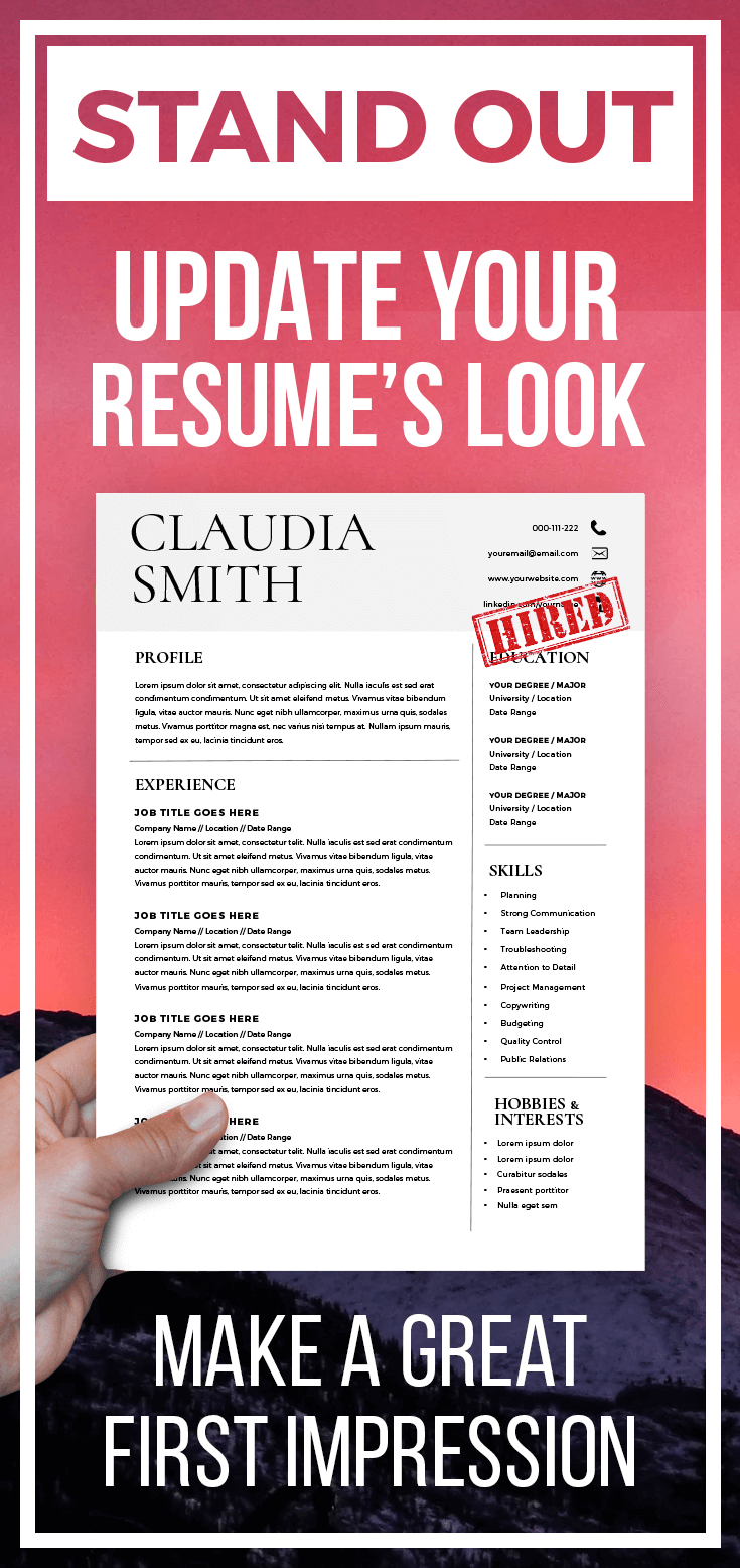 Microsoft Word Resume Templates Including A Cover Letter And An Icon Set -  3 Page Pack