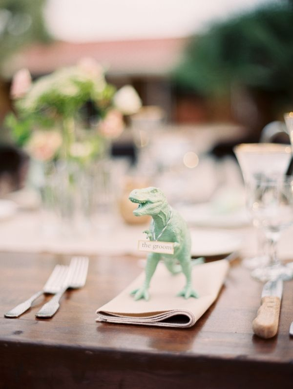 Wedding Place Setting with Animals | photography by http://brushfirephotography.com/