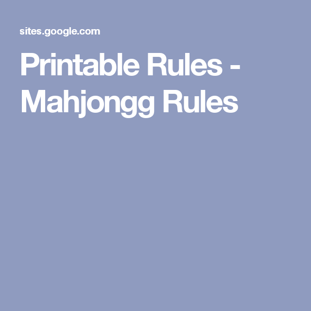 graphic about Mahjong Rules Printable named Printable Suggestions - Mahjongg Suggestions Mah jongg Printables
