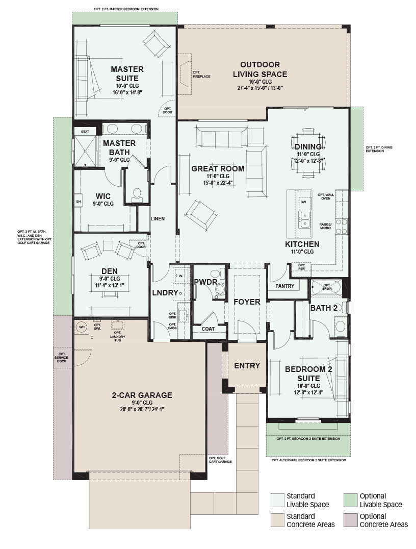 Sbr 1956fp Png 816 1 076 Pixels Retirement Community Floor Plans Floor Plan Design
