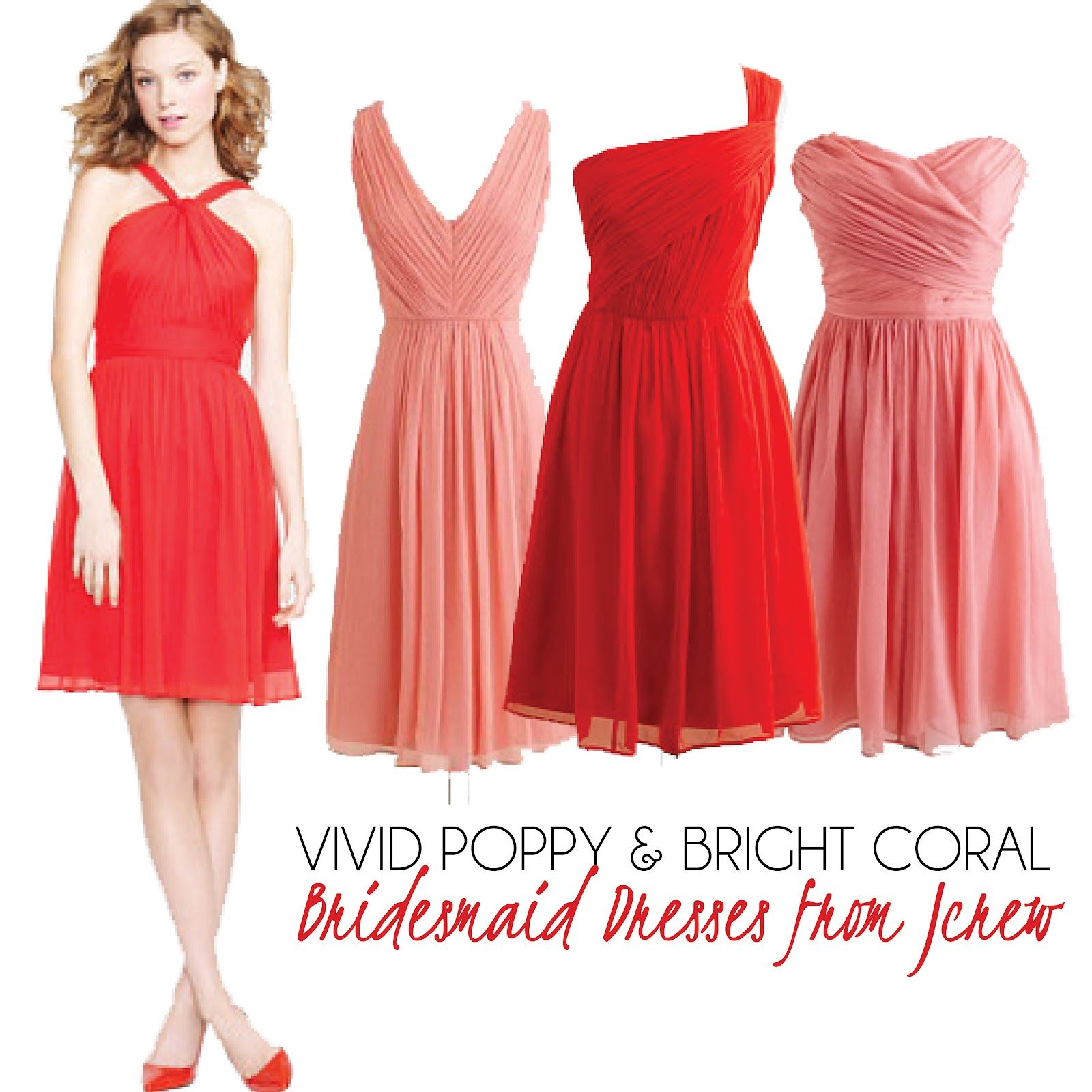 vivid poppy, bright coral | Bridesmaids | Pinterest | Colors, The ...