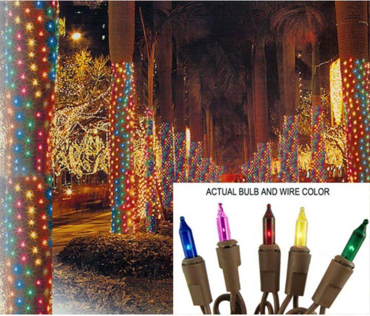 Multicolor 2x8 Net Christmas Lights
