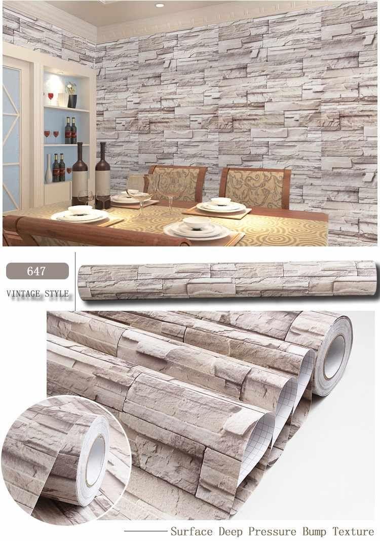 Source Hot Sale High Quality Korea Self Adhesive 3d Wallpaper For Company On M Alibaba Com Brick Wallpaper Living Room 3d Brick Wallpaper Home Wallpaper