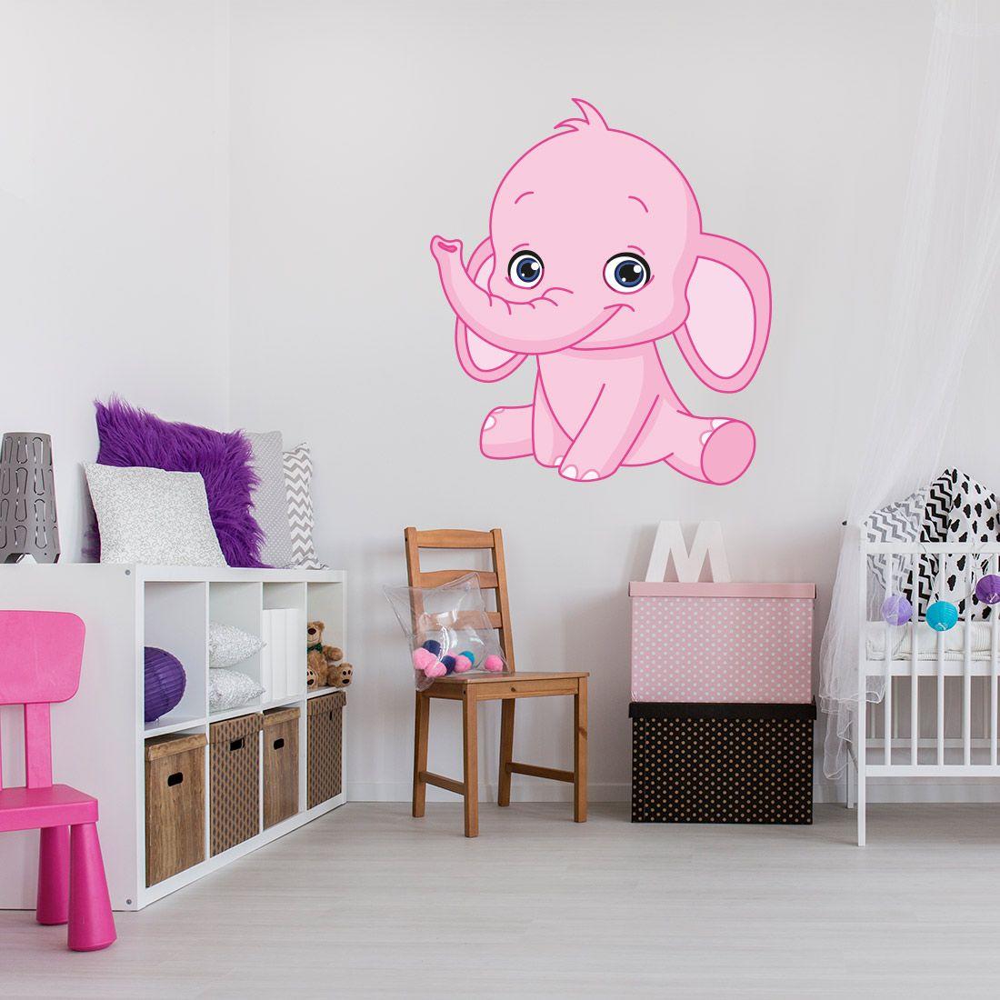 Muurdecoratie Babykamer Meisje.Muursticker Olifant Babykamer Jongen Of Meisje In 2019 Kinderkamer