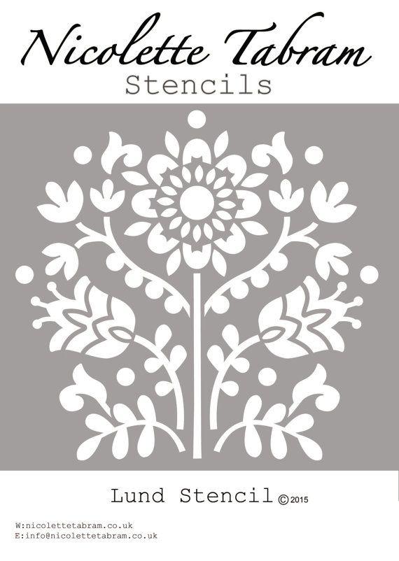 plantilla de lund por nicolettetabram en etsy letter stencils stencil templates stencil designs