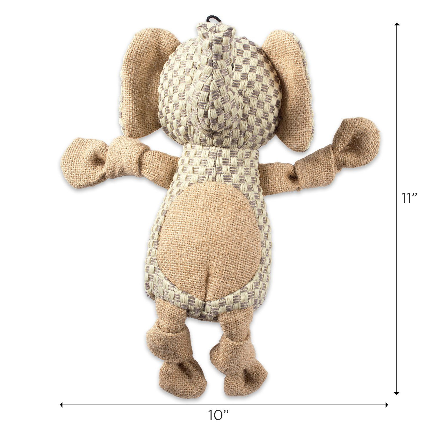 Dii Bone Dry Burlap Body Jungle Friends Squeaking Pet Toy