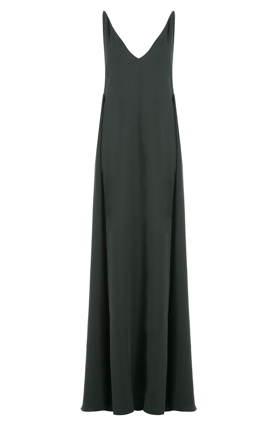 Floor Length Silk Dress, Green | Silk dress, Silk and Floor length gown