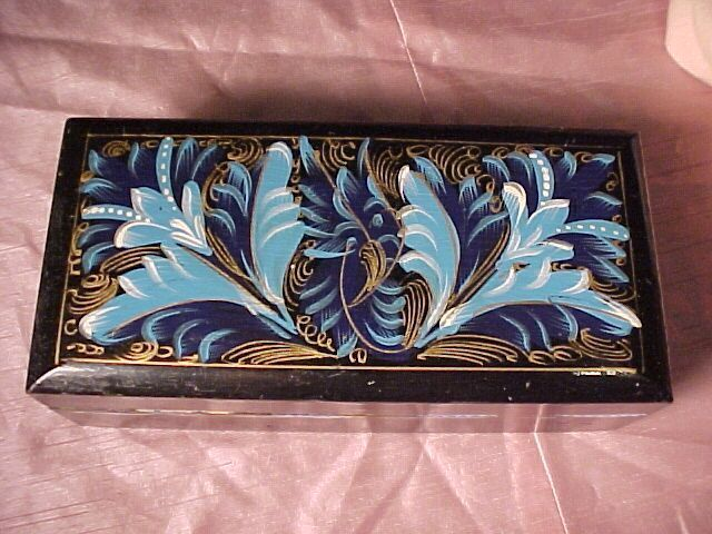 Vintage Black Lacquered Box
