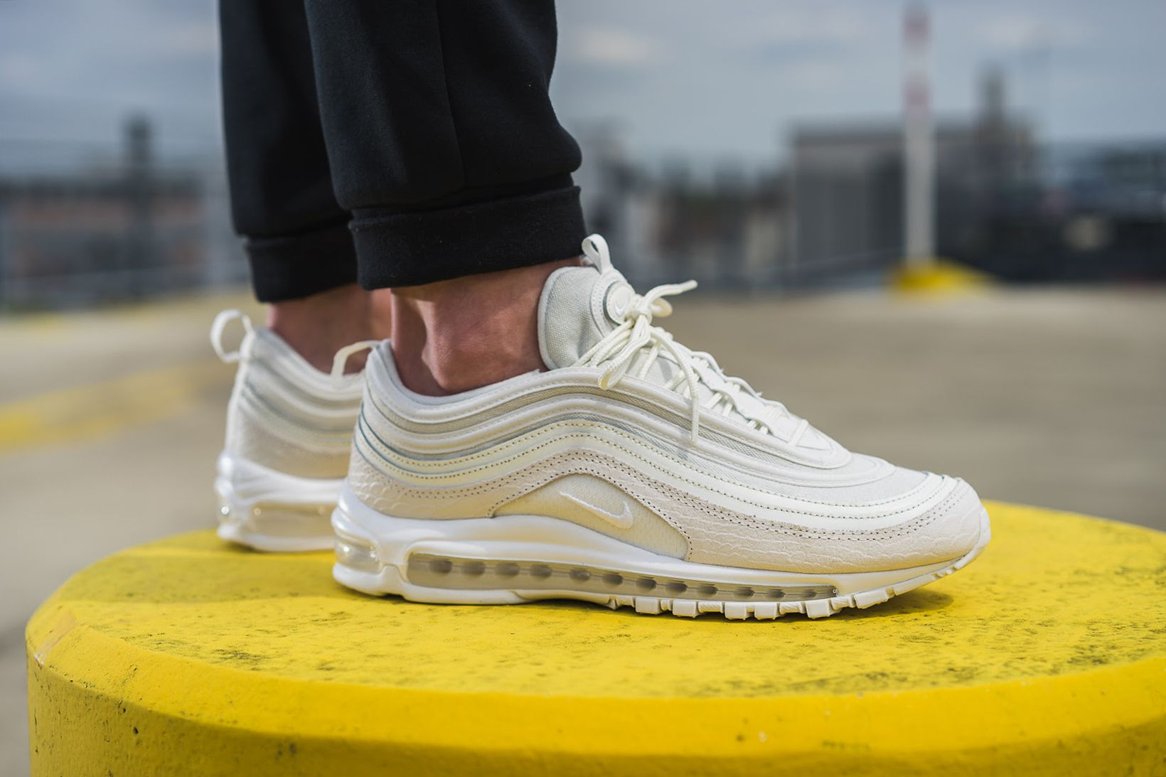 An On Feet Look At The Nike Air Max 97 White Snakeskin Nike