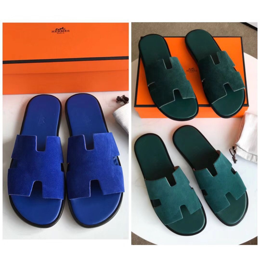 Hermes Man Slides Casual Slippers Mens Slippers Casual Slippers
