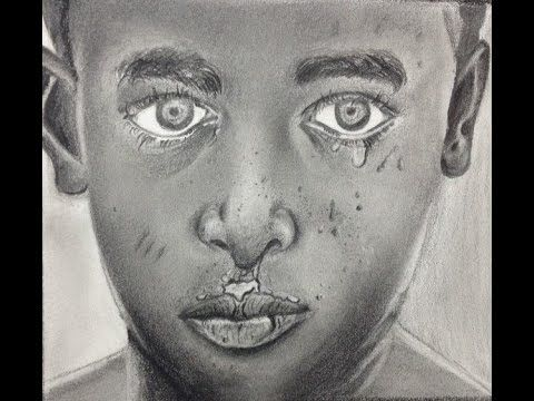 Timelapse pencil sketch tutorial very sad abused boy 6 hours video in 11 minutes drawing a boy