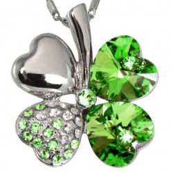 Green Crystal Necklace - Shamrock Necklaces: Gifts for St. Patrick's Day 2013