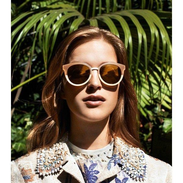 b90990bf781 Tory Burch Panama Sunglasses found on Polyvore