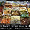 20 Slow Cooker Freezer Meals in 4 Hours3