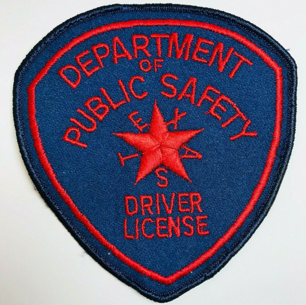 Texas Department Of Public Safety DPS Driver License Felt