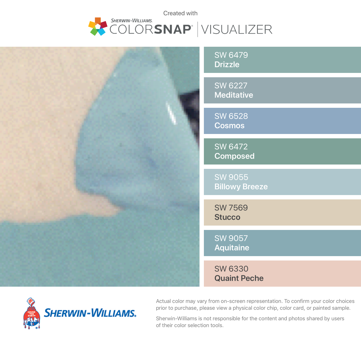 I Found These Colors With Colorsnap Visualizer For Iphone By Sherwin Williams Drizzle Sw 6479 Meditative Sw Paint Colors For Home Sherwin Williams Color