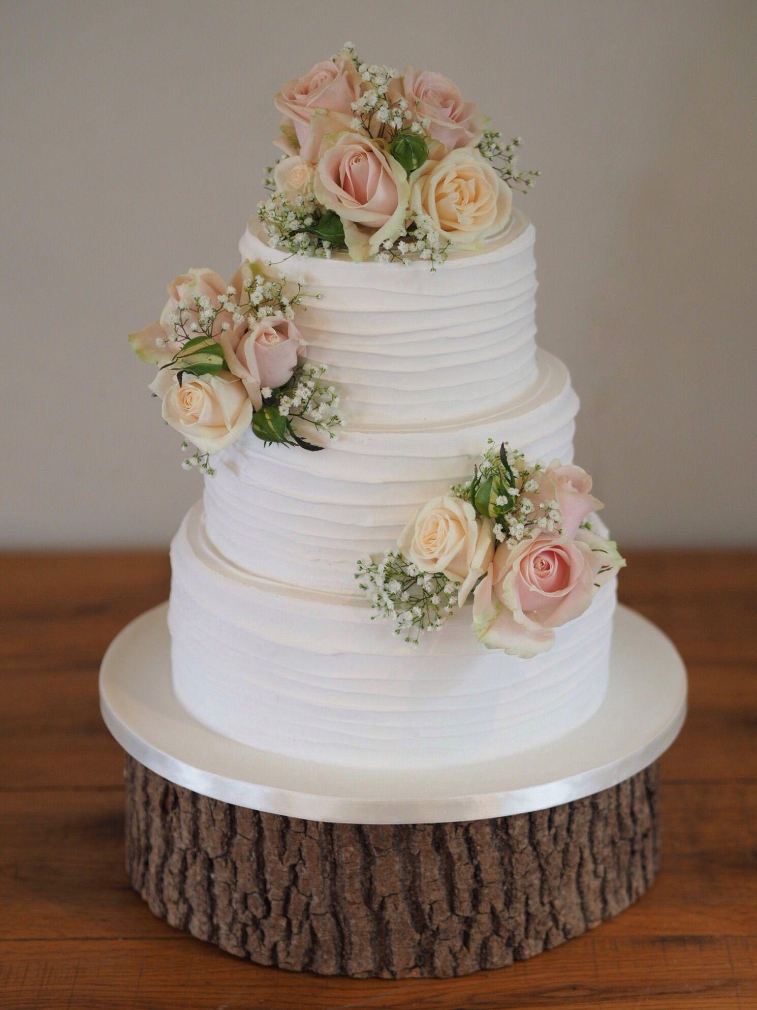 Swirled Textured Soft Iced Wedding Cake By Sarah Louise Cakes Wedding Cake Fresh Flowers Wedding Cake Icing Designs Wedding Cake Icing