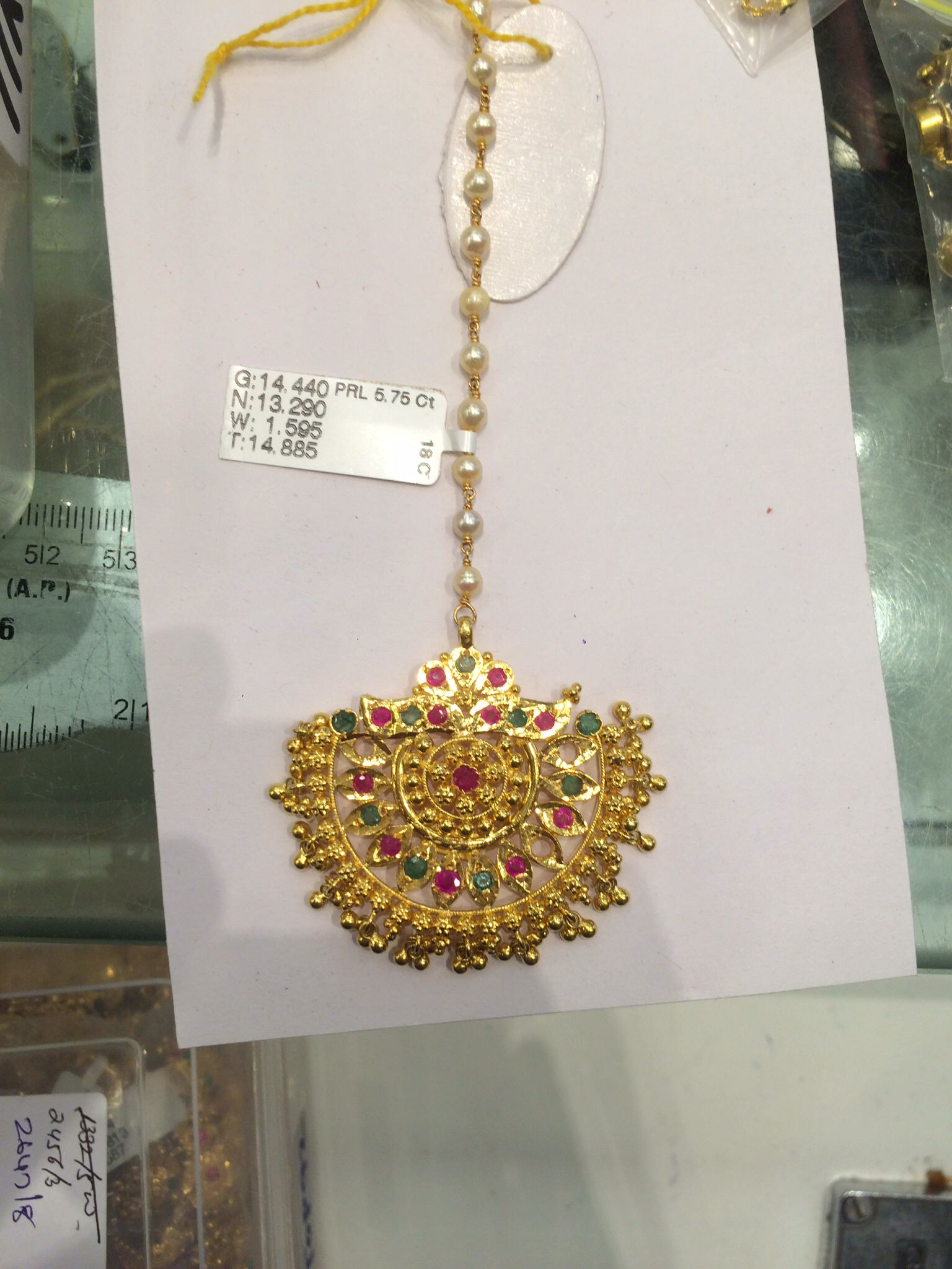 Golden maang tikka designs bridal jewellery bridal maang - Tika Hair Accessories