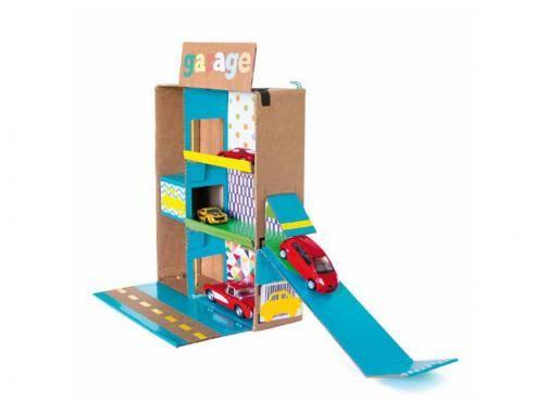 Garage pour petites voitures | Garage jouet, Bobines de