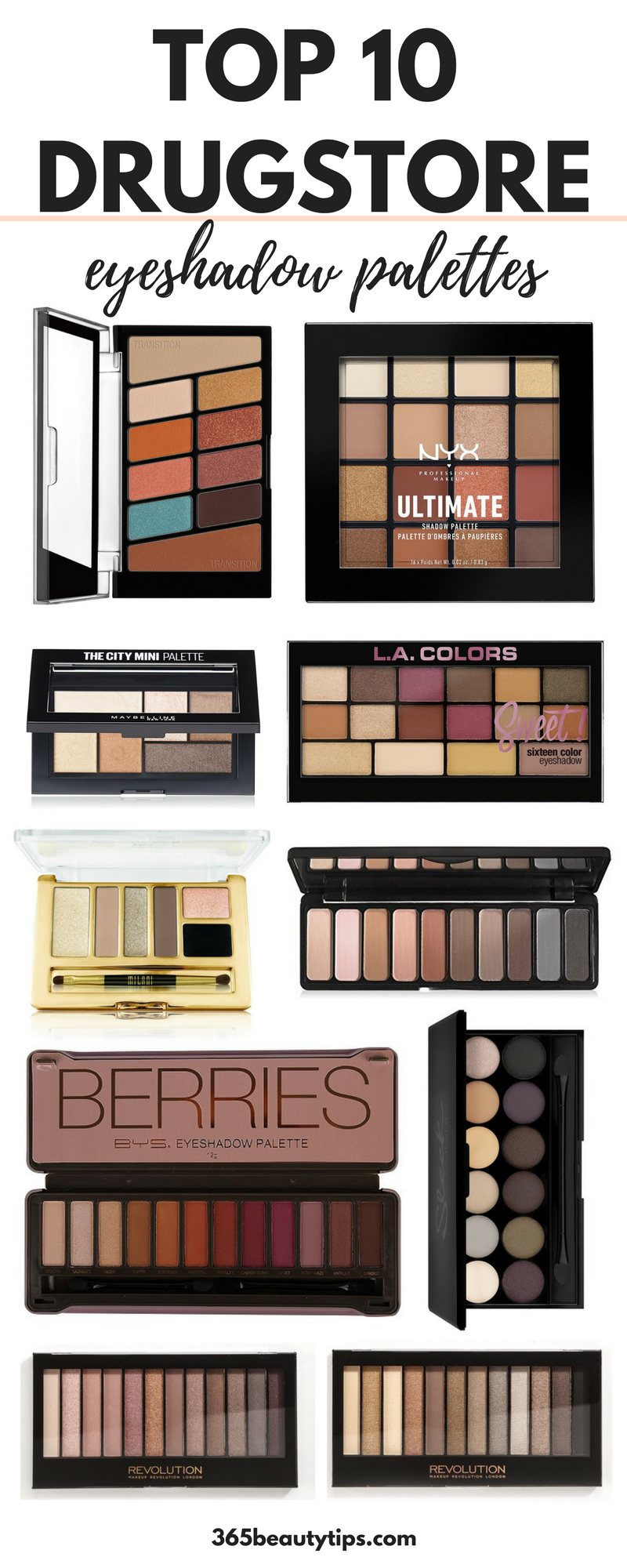The Best Drugstore Eyeshadow Palettes 365beautytips Drugstore Eyeshadow Drugstore Eyeshadow Palette Best Drugstore Eyeshadow