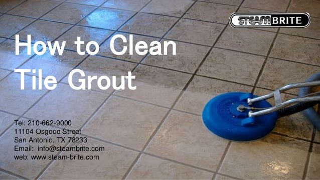 How to Clean Tile Grout Tel: 210-662-9000 11104 Osgood Street San Antonio, TX 78233 Email: info@steambrite.com web: www.st...  #commercialcarpetsteamcleaning #portablecarpetcleaningmachine #carpetcleaningequipment #truckmountedcarpetcleaningmachine #tilecleaningmachines