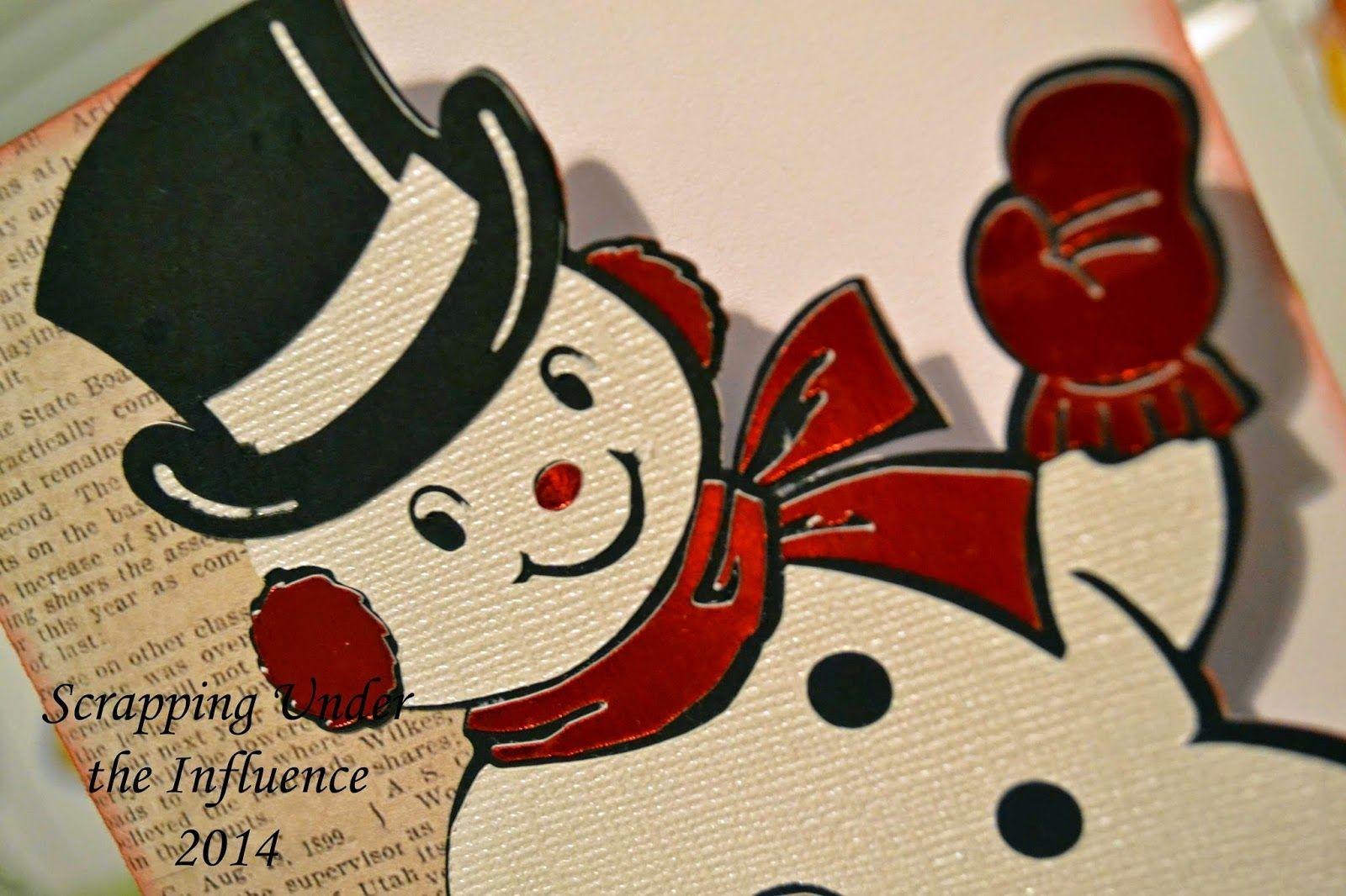Scrapping Under the Influence: Christmas Box Cards (Plus a Bonus!) @Cricut #christmas