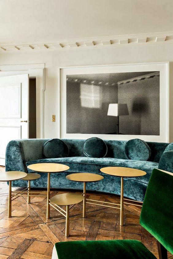 Canapé velours Design intérieur de luxe Maison luxe Salon
