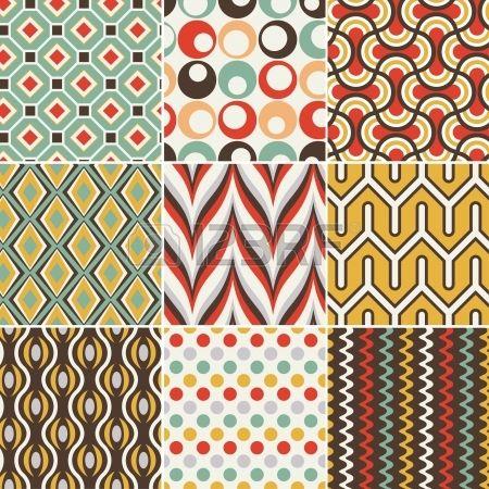 stock photo motifs motif g om trique motif r tro et. Black Bedroom Furniture Sets. Home Design Ideas
