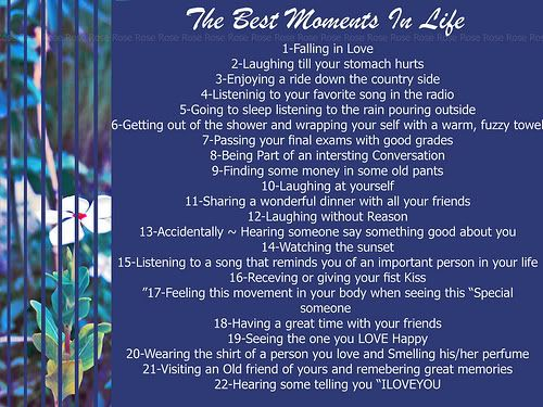 best moments in life essay