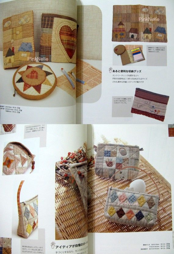 Patchwork Small Bags and Zipper Pouches Craft Book by PinkNelie