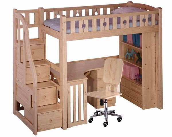 desk bunk bed combo Loft Bunk Bed Desk Shanghai FineV