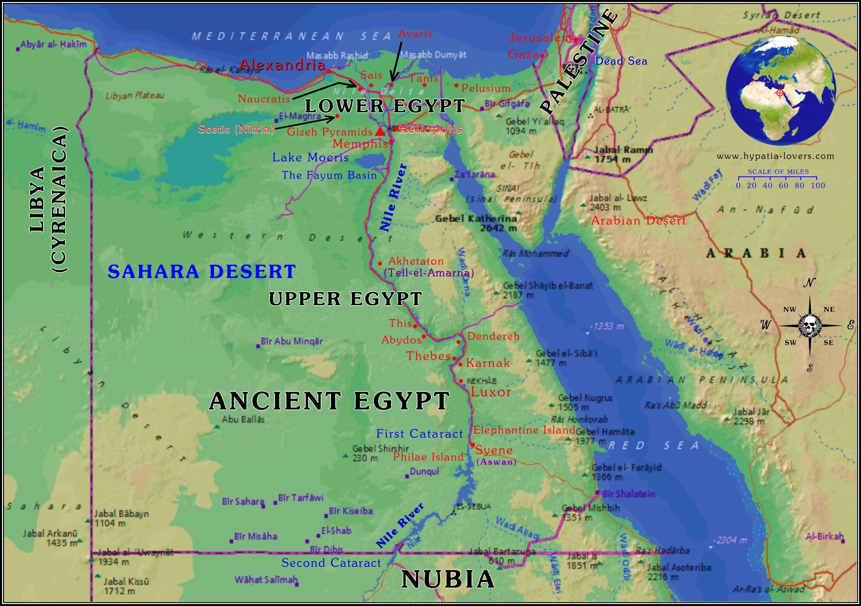 Egypt Map Ancient Egypt Map Ancient Egypt [ 2112 x 3000 Pixel ]
