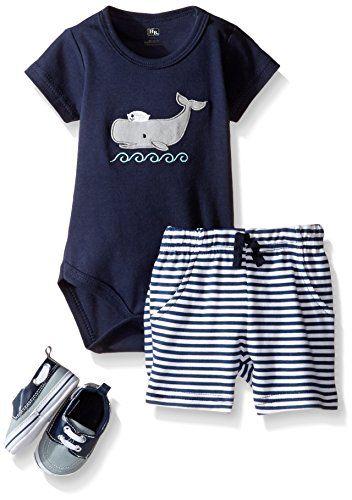 7d3db1eeb2a9 Baby Boy Clothes Hudson Baby Baby -Boys  3 Piece Bodysuit