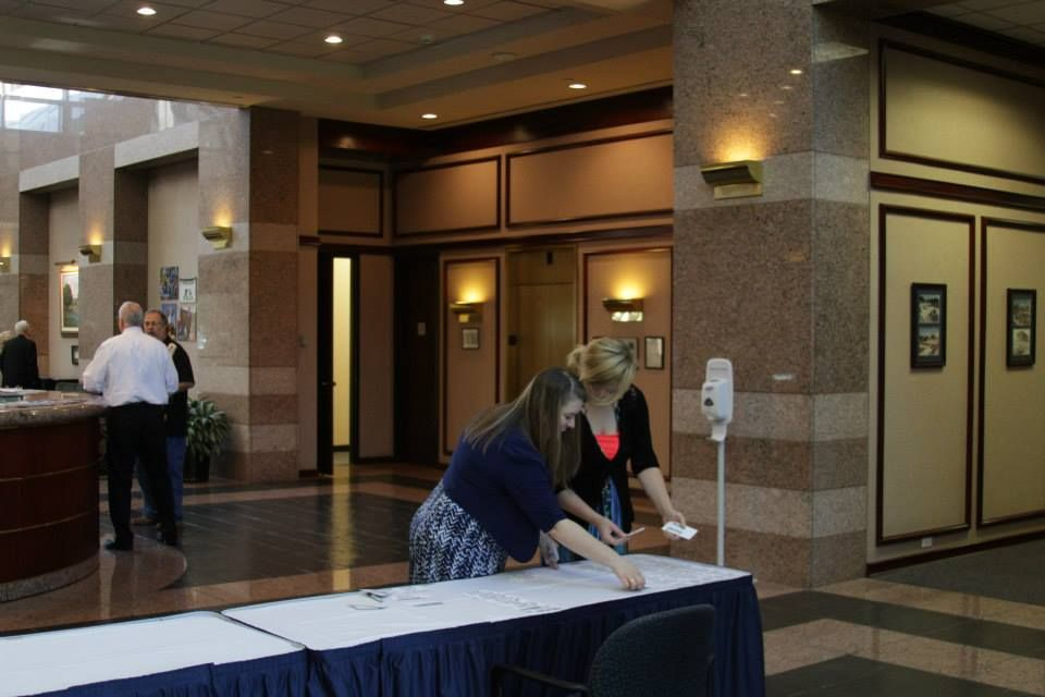 Bgct Staff Arranged Name Tags For Attendees Of The 2015 Baptist Center For Ethics Luncheon Held At The Bgct Building In Dalla Texas Baptists Attendee