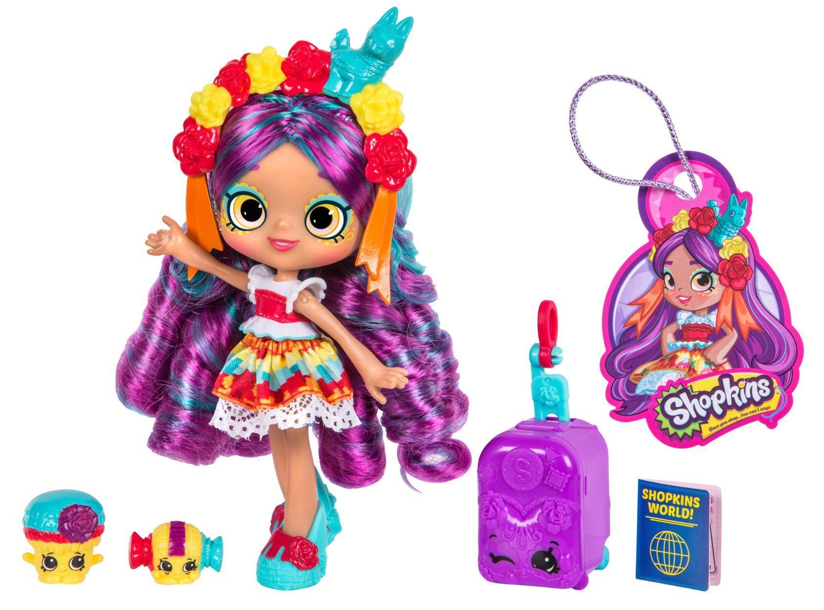 Shopkins Shoppies World Vacation Doll Rosa Pinata Visits Mexico