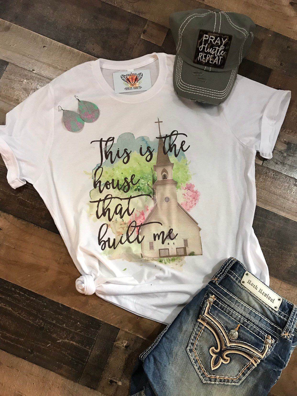 Excited to share this item from my #etsy shop: The house that built me, church tee, church shirt, religious tee, christian tee, easter, easter shirt, unisex tee, Easter clothing, sunday #churchitems Excited to share this item from my #etsy shop: The house that built me, church tee, church shirt, religious tee, christian tee, easter, easter shirt, unisex tee, Easter clothing, sunday #churchitems