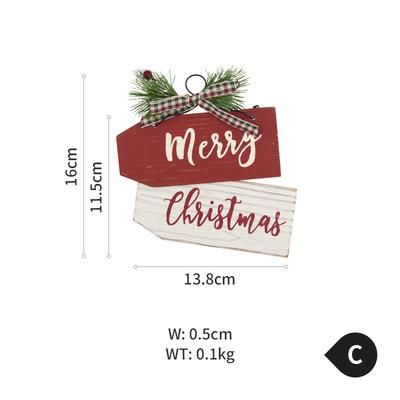 Cute and Small Christmas Wood Decoration – C