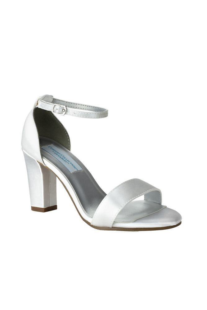 d3b69a422772 Dyeable Ankle-Strap Block Heel Sandals Style MADDOXWHITE